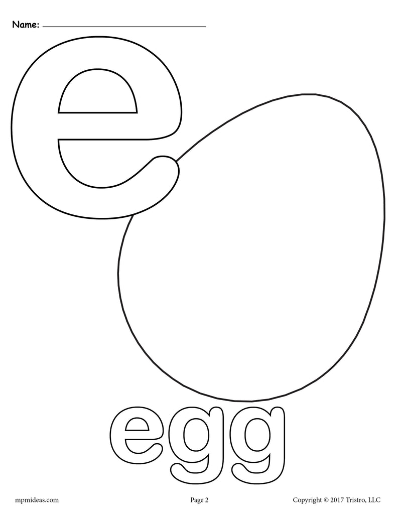 Letter E Alphabet Coloring Pages - 3 FREE Printable ...