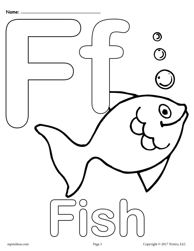 Letter F Alphabet Coloring Pages