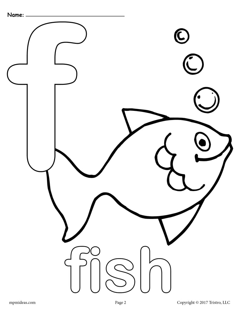 Letter F Alphabet Coloring Pages - 3 FREE Printable ...