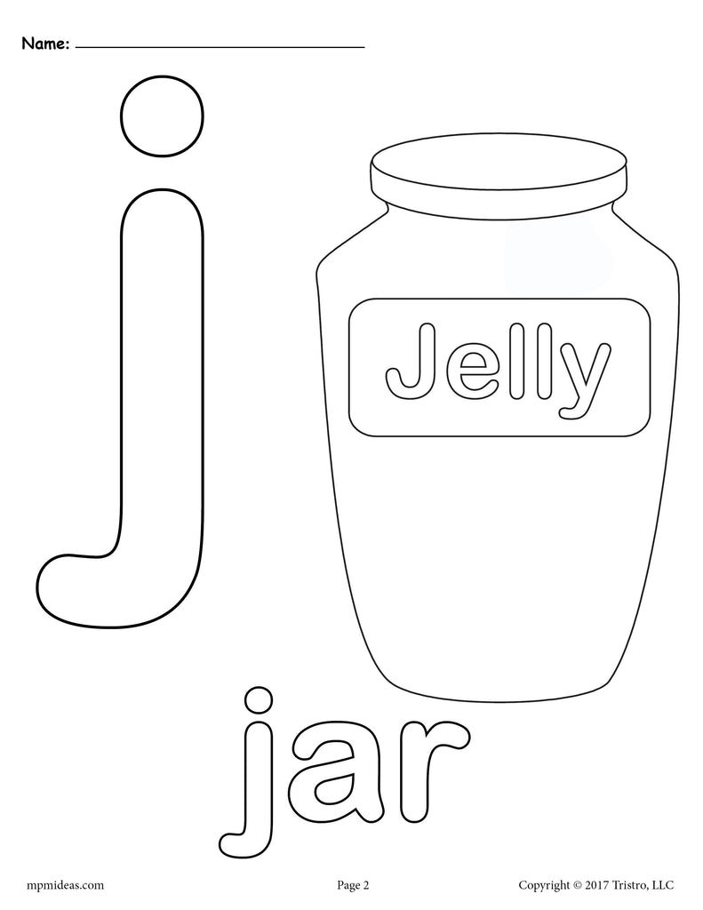 Letter J Alphabet Coloring Pages 3 FREE Printable