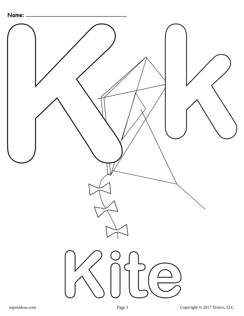 letter k alphabet coloring pages 3 free printable versions supplyme. Black Bedroom Furniture Sets. Home Design Ideas