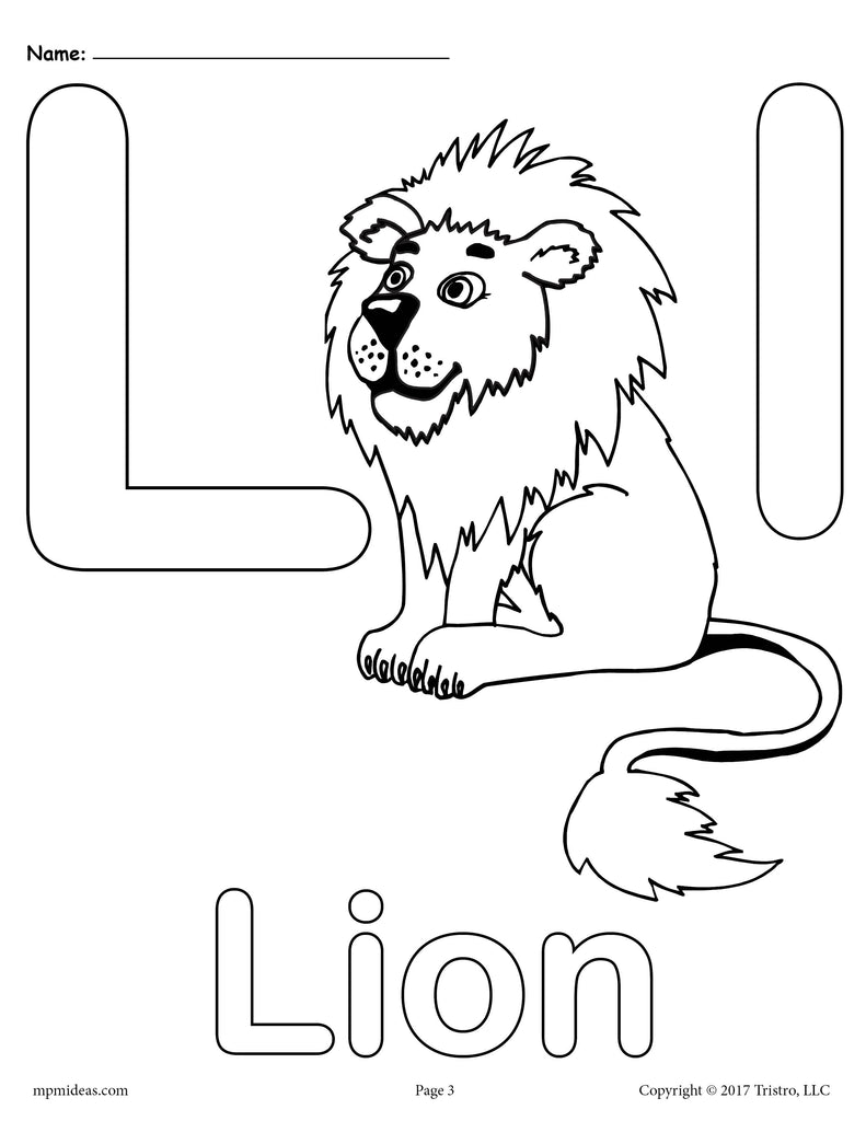 photograph regarding Printable Letter L referred to as Letter L Alphabet Coloring Web pages - 3 Totally free Printable Designs