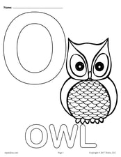 Letter O Alphabet Coloring Pages - 3 Printable Versions!