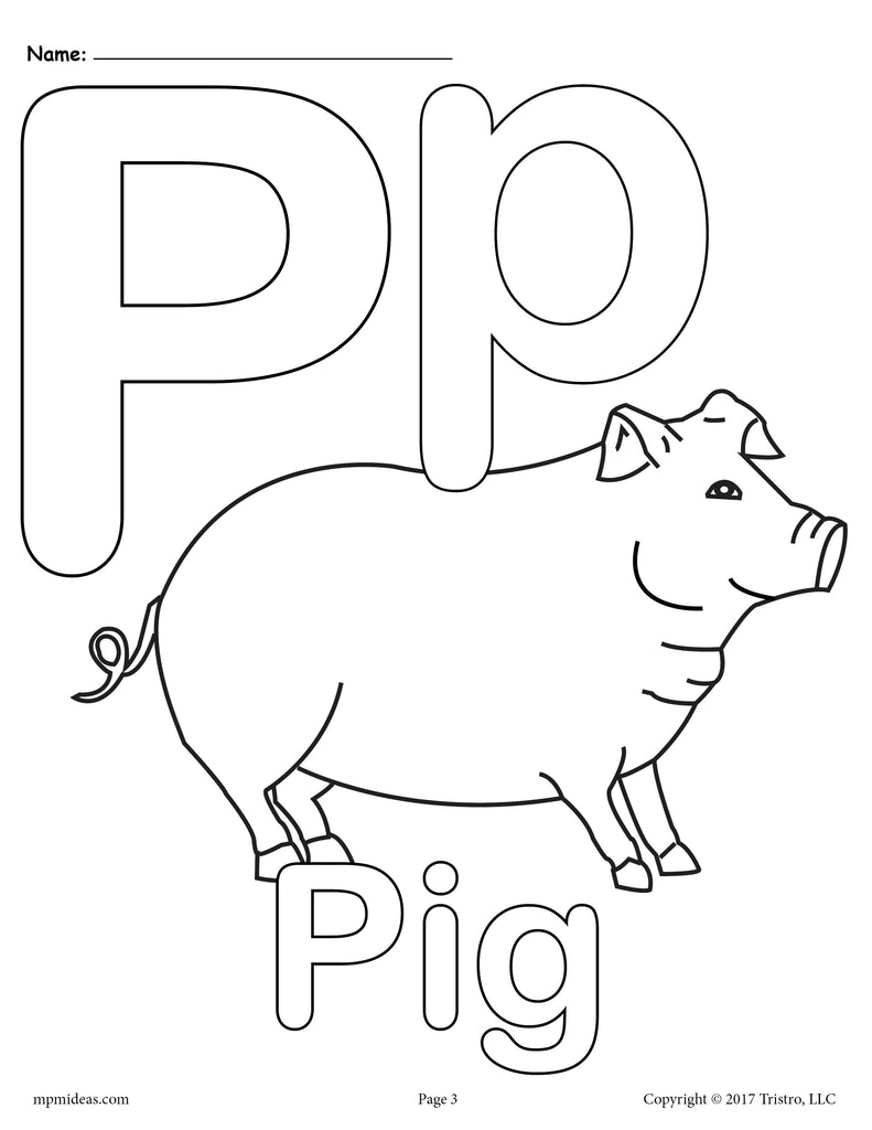 letter p alphabet coloring pages 3 free printable versions supplyme. Black Bedroom Furniture Sets. Home Design Ideas