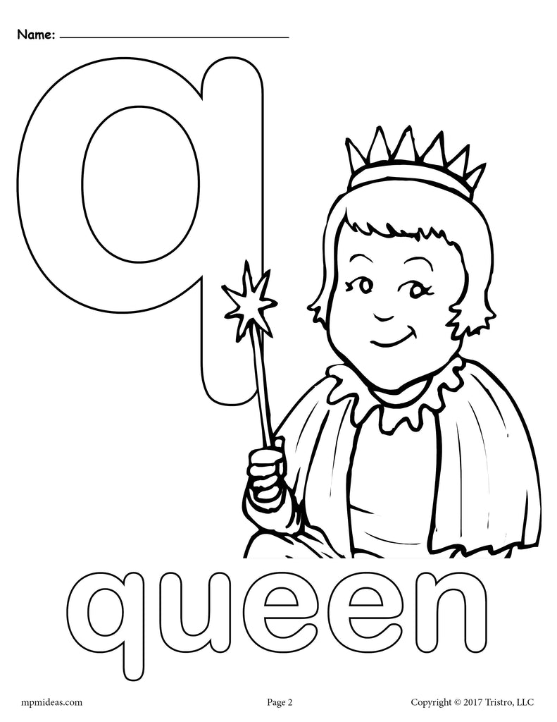 Letter Q For Coloring Letter Q Alphabet Coloring Pages 3 FREE Printable