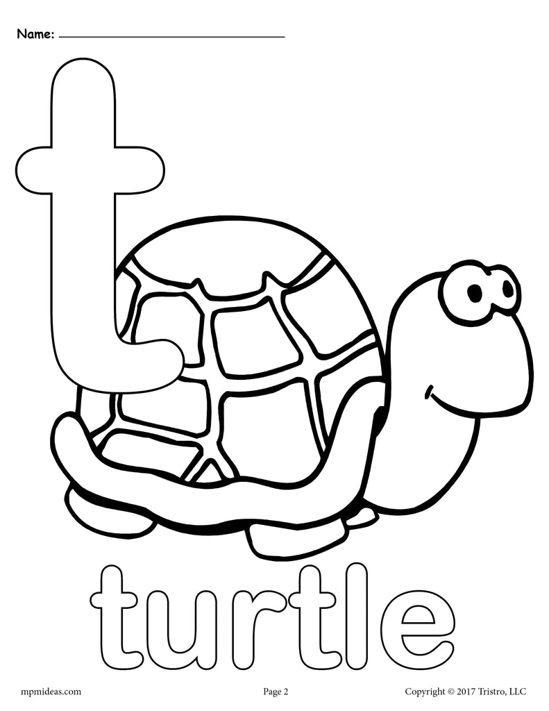 Letter T Alphabet Coloring Pages 3 Printable Versions Supplyme