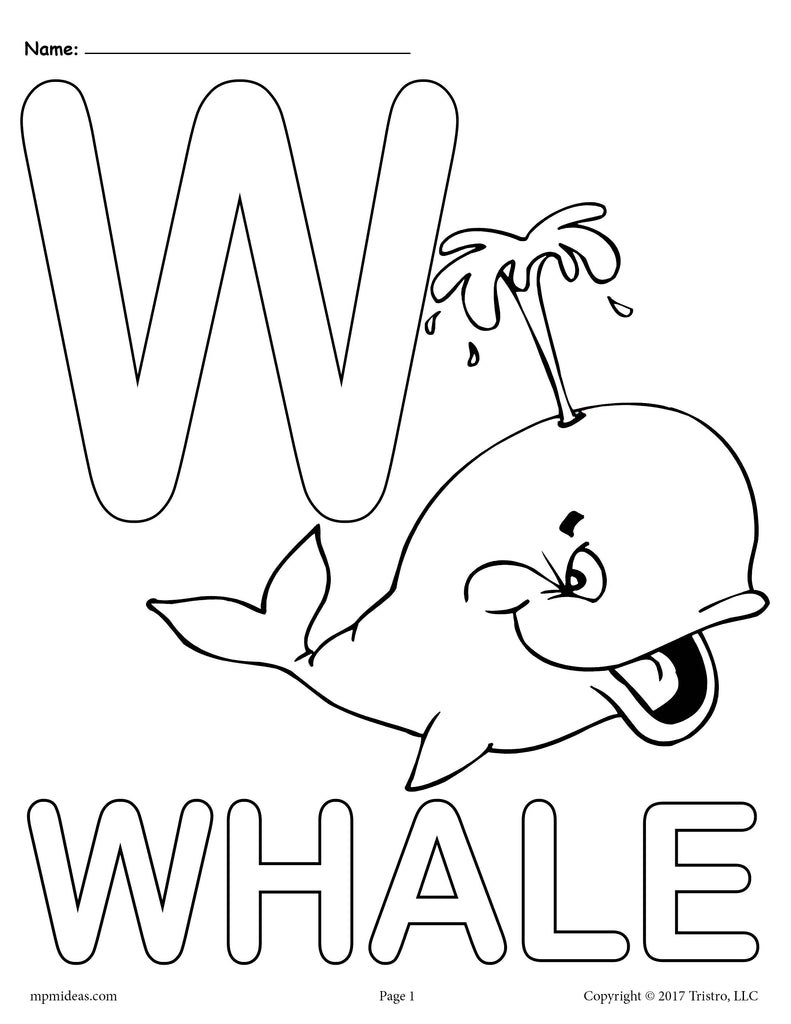alphabet w coloring pages - photo#3