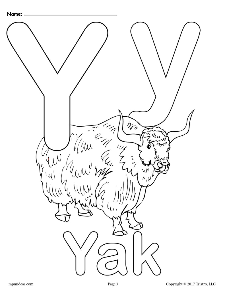 photograph about Printable Letter Y named Letter Y Alphabet Coloring Internet pages - 3 Free of charge Printable Designs