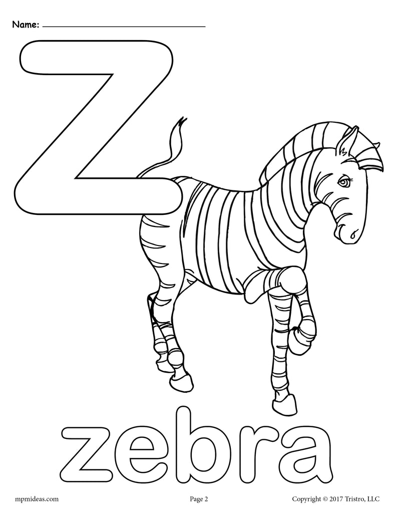 - Letter Z Alphabet Coloring Pages - 3 Printable Versions! – SupplyMe