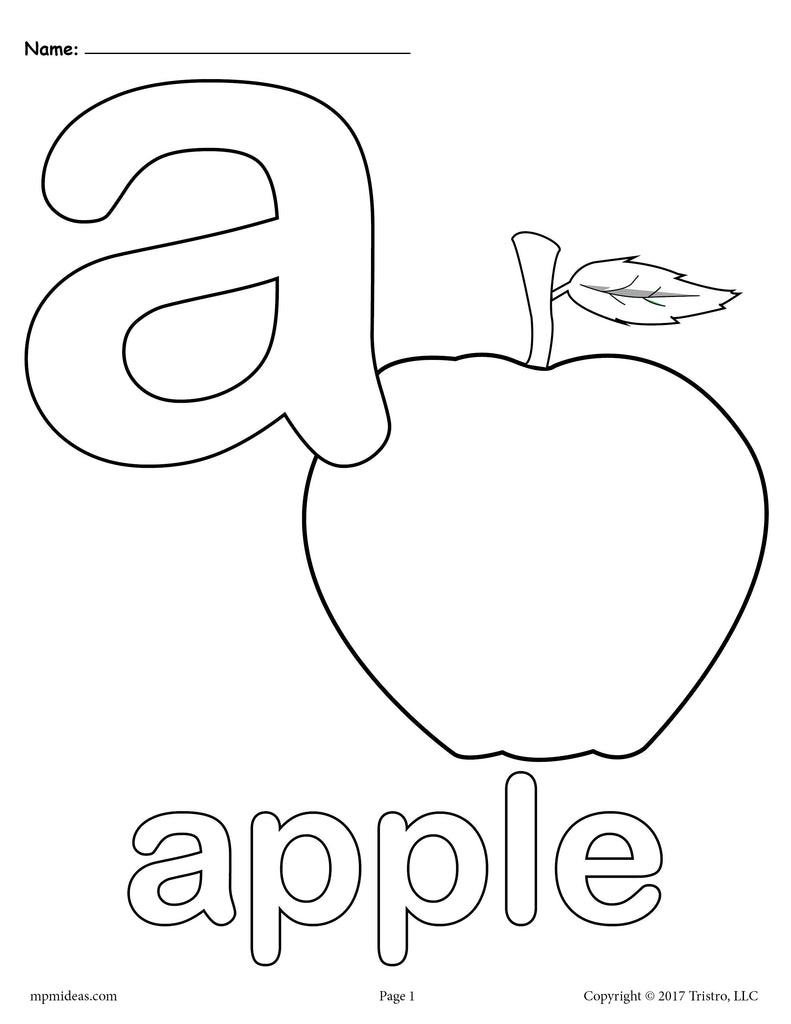 Letter A Alphabet Coloring Pages