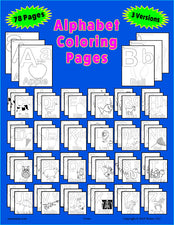 78 Alphabet Coloring Pages - Uppercase & Lowercase Letters!
