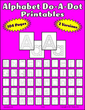 104 Alphabet Do-A-Dot Printables - Uppercase & Lowercase!