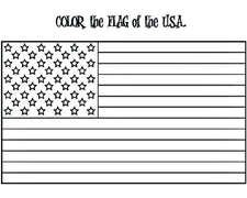 American Flag Coloring Page - w/ FREE Extension Activities!