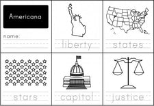 Americana Handwriting Practice Worksheet