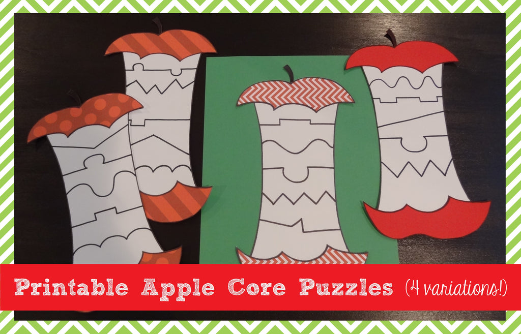 Printable Apple Core Puzzles (4 Variations!) – SupplyMe