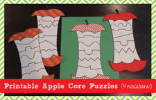 Printable Apple Core Puzzles (4 Variations!)