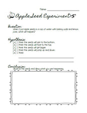 Jumping Apple Seeds - Fun Experiment with Free Printable!