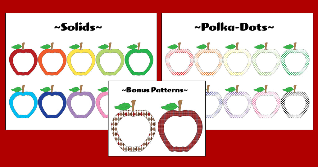 22 FREE Printable Apple Accents/Graphics!