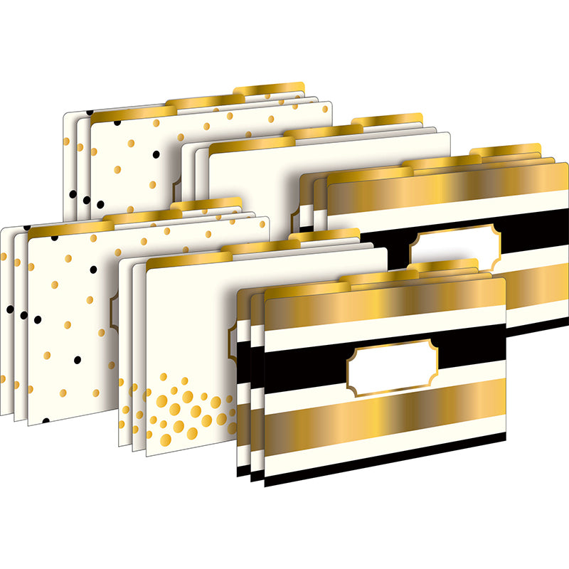 24K Gold Legal-Sized File Folders, Set of 18