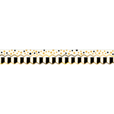 Gold Bars Double-Sided Bulletin Board Border