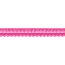 Happy Hot Pink Double-Sided Bulletin Board Border