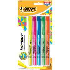 BIC Bright Liner Highlighters 5Pk Assorted