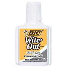 BIC WiteOut - Quick Dry Correction Fluid, 1 Bottle