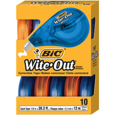 Bic Wite-Out EZ Correct Correction Tape 10Pk