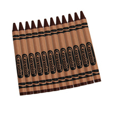 Crayola Bulk Brown Crayons, 12 Count