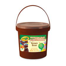 Modeling Clay, 1 Lb Bucket Brown