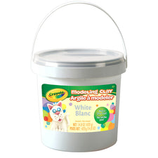 Modeling Clay, 1 Lb Bucket White