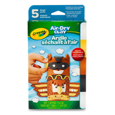 Crayola Air-Dry Clay, 5 Count Assorted (Neutral)