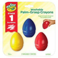My First Crayola Washable Palm-Grasp Crayons, 3 Pack