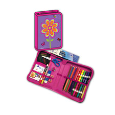 Flowers All-In-One School Supplies Carrying Case