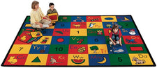 "Blocks of Fun Alphabet & Numbers Classroom Rug, 4'5"" x 5'10"" Rectangle"