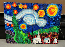 Use Recycled Bottle Caps to Create A Mural!