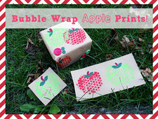 Bubble Wrap Apple Printing Craft for Kids