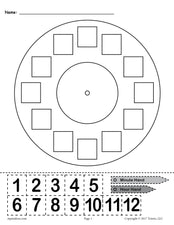"FREE Printable ""Build a Clock"" Telling Time Activity!"