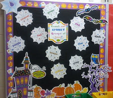 Spooky Spiders! - Math & Literacy Halloween Bulletin Board