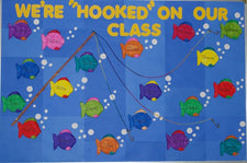 "We're ""Hooked"" On Our Class Fish Themed Bulletin Board Idea"