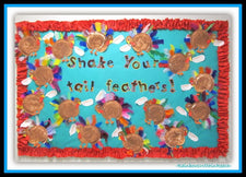 """Shake Your Tail Feathers!"" Thanksgiving Bulletin Board Idea"