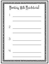 Bursting With Resolutions! - New Years Writing Activity & Bulletin Board