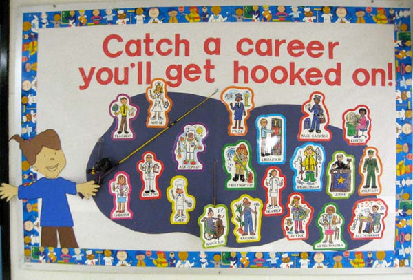 Quot Catch A Career Quot Career Day Bulletin Board Idea Supplyme