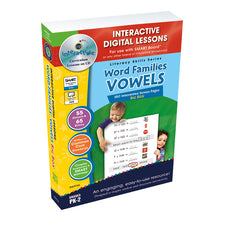 Interactive Whiteboard Digital Lesson Plans, Word Families: Vowels Big Box