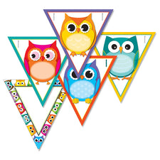 Colorful Owls Banner