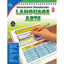 Interactive Notebooks Language Arts Resource Book, Grade 3