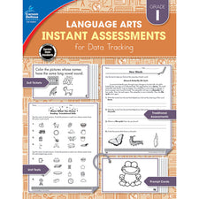 Language Arts Instant Assessments for Data Tracking Resource Book, Grade 1