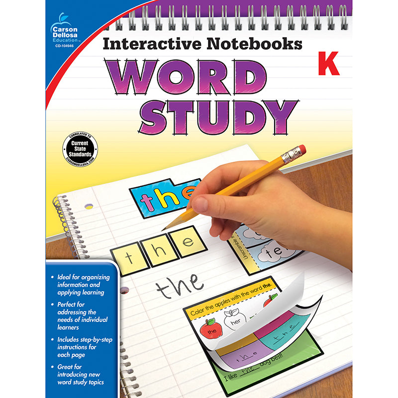 Interactive Notebooks: Word Study Resource Book, Grade K
