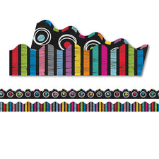Colorful Chalkboard Scalloped Bulletin Board Borders