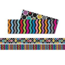 Colorful Chalkboard Straight Bulletin Board Borders